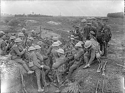 Northumberland Fusiliers at Thiepval Sept 1916 IWM Q 1349