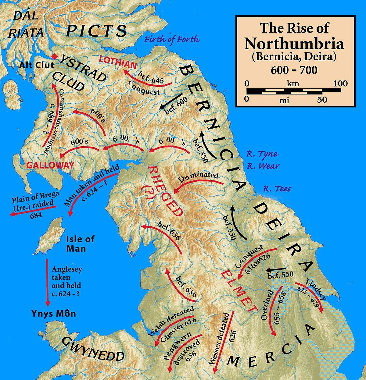Англосаксонские королевства уэссекс суссекс эссекс мерсия нортумбрия вост англия кент