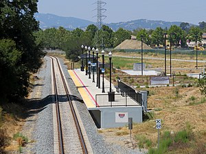 Novato Hamilton station from Main Gate Road (1), August 2018.JPG