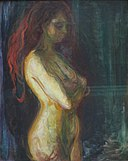 Nude in Profile towards the Right by Munch, Bergen Kunstmuseum.JPG