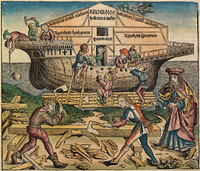 Construction of the Ark. Nuremberg Chronicle (1493).
