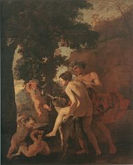 Venus, Faun and Putti