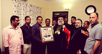 Orthodoxy Cognate PAGE Society - OCP delegation meets with Patriarch Ignatius Aphrem II in Puthencruz