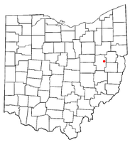 Location of Roswell, Ohio