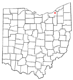 Location of University Heights in Ohio