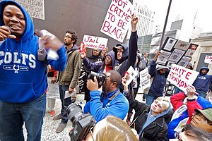 Shooting of Trayvon Martin - Chicago protestors on March 28, 2012