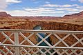Off Navajo Bridge which crosses the Colorado Rivers Marble Canyon (3454885014).jpg