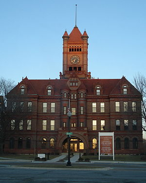 Wheaton, Illinois - The historic DuPage County Courthouse in downtown Wheaton