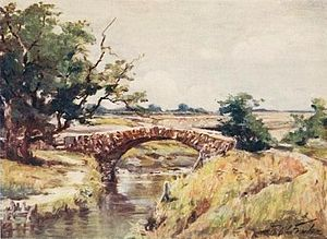 Robert Fowler (artist) - Image: Old Roman bridge near Swansea