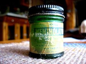 Mentholatum - An old bottle of AA Hyde Mentholatum Ointment