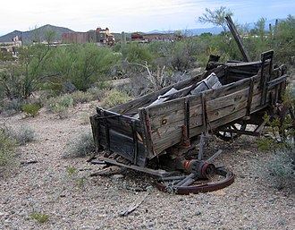 Old Tucson Studios - An old wagon at Old Tucson Studios