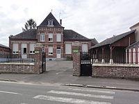 Ollezy (Aisne) mairie-école.JPG