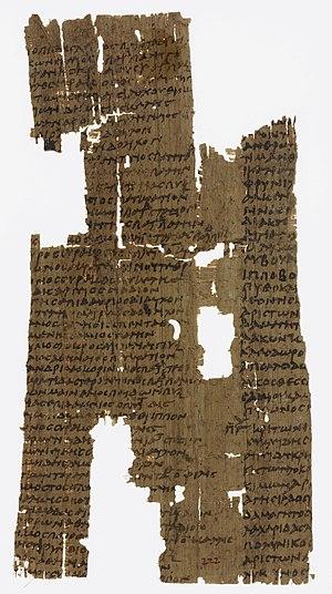 Papyrus Oxyrhynchus 222 - Papyrus Oxyrhynchus 222