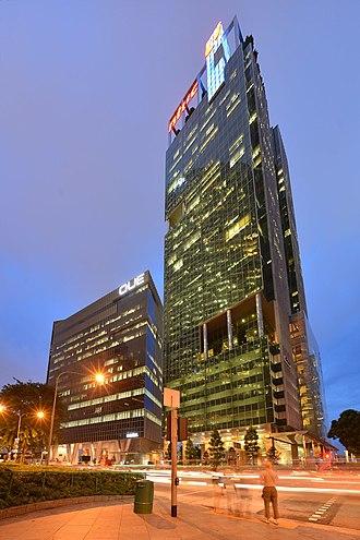 Marina Boulevard - One Marina Boulevard, an office building along Marina Boulevard