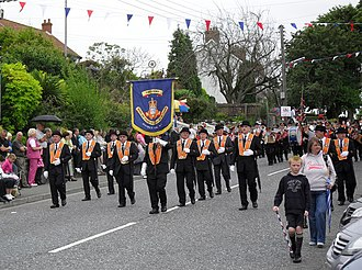 Drumcree conflict - Some members of Portadown District Loyal Orange Lodge marching in Armagh during the 12 July parades, 2009