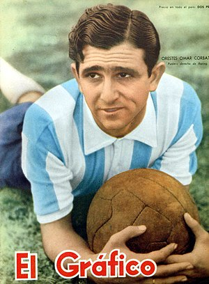 Oreste Corbatta - Corbatta on the cover of El Gráfico, 1957