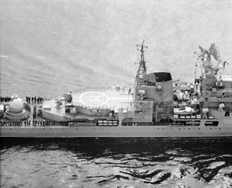 Sovremenny-class destroyer - Helicopter pad.