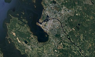 Satellite image of the Oulu region. Oulu sat img.jpg