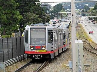 M Ocean View San Francisco light rail line