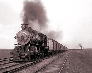 """Overland Limited (ATSF train) - The Overland Limited carried passengers for portion of what was billed as the """"Greatest Masonic Pilgrimage Ever"""" upon its inauguration in 1901."""