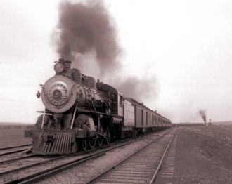 "Overland Limited (ATSF train) - The Overland Limited carried passengers for portion of what was billed as the ""Greatest Masonic Pilgrimage Ever"" upon its inauguration in 1901."