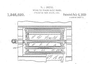 old drawing of a machine from a patent