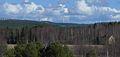 På Svartvallsberget i Ljusdals kommun togs i början av 2014 tio 2 MW vindkraftverk i drift.jpg