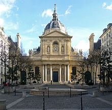 The Sorbonne Chapel facing the Sorbonne square.
