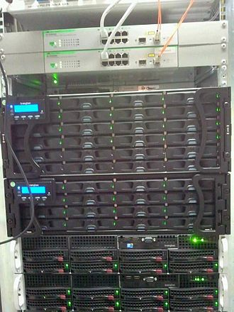 Picture archiving and communication system - PACS-Server with 35-terabyte RAID Archive and high speed fiber optic switch