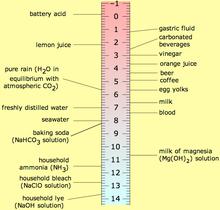 syre base tabel