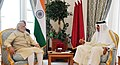 PM Modi with the Emir of Qatar (27051880474).jpg