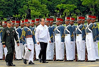 President of the Philippines - President Aquino reviews the troops of the Armed Forces of the Philippines