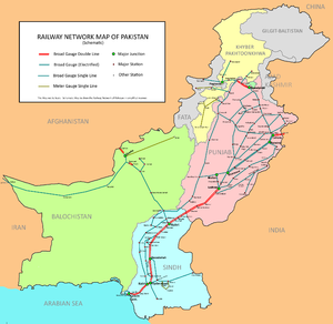 Railway Network of Pakistan - Schematic. (Abbr...