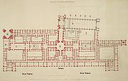 The layout of the Palace of Westminster