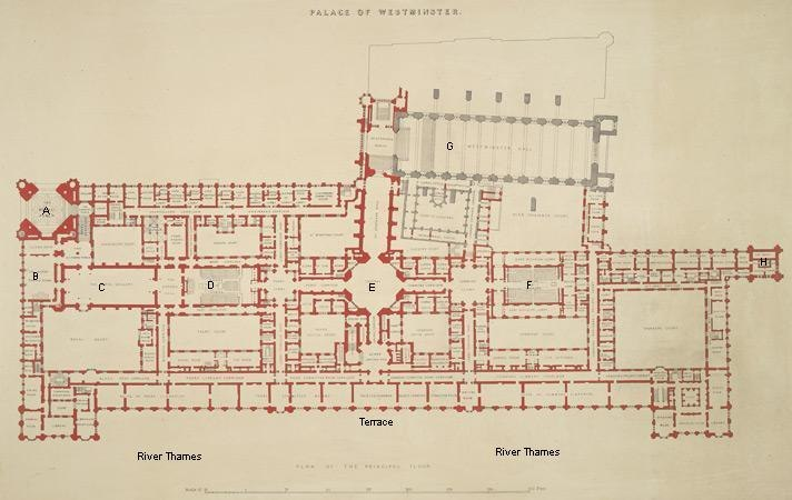 Palace of Westminster plan Crace