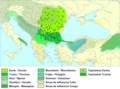 Paleo-Balkan languages in Eastern Europe between 5th and 1st century BC - Spanish and English.png