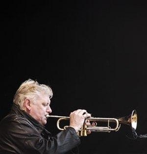 Palle Mikkelborg - Palle Mikkelborg: Playing in Aarhus, Denmark. Photo Hreinn Gudlaugsson