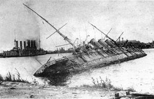 Russian cruiser Pamiat Azova - The wreck of Pamiat Azova in Kronstadt