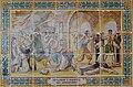 Panell ceràmic de la història del monestir de la Plana, Xàbia.JPG