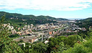 Polcevera - Image: Panorama Valpolcevera da Murta