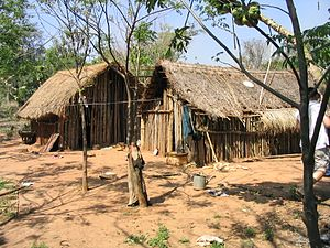 Indigenous peoples in Paraguay - Contemporary Paraguayan Indian village, 2003