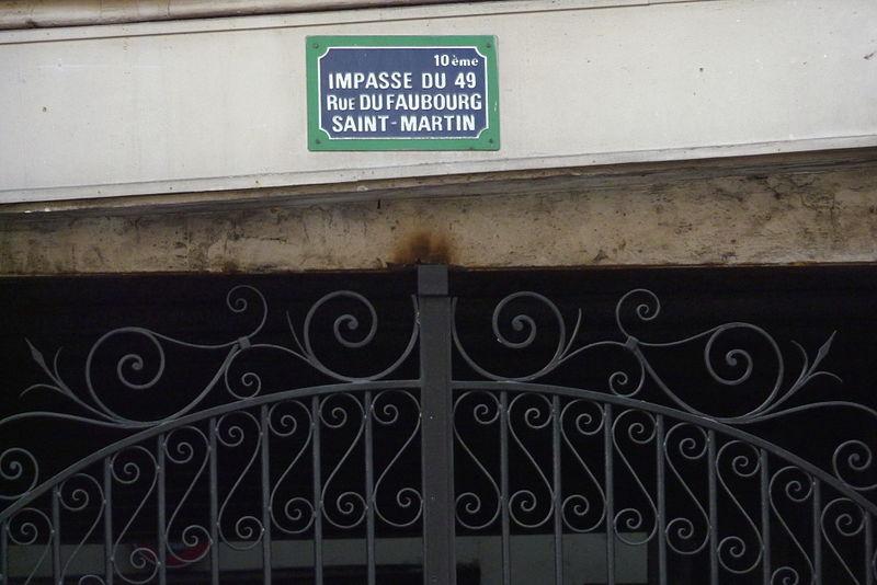 Fichier:Paris 10e Impasse Fbg Saint-Martin 591.JPG