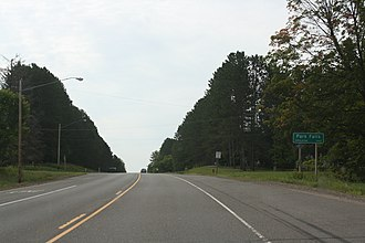 Park Falls, Wisconsin - Image: Park Falls Wisconsin Sign WIS13