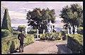 Park med statyer. Sandemar 23 augusti 1887. Akvarell av Fritz von Dardel, 1887 - Nordiska museet - NMA.0043714.jpg