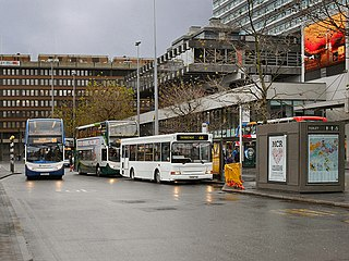 Manchester Piccadilly Gardens bus station
