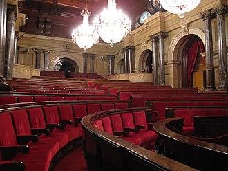 Palau del Parlament de Catalunya - The parliamentary chamber