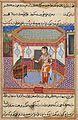 Parrot addressing Khojasta in Tutinama commisioned by Akbar, c1556-1565.jpg
