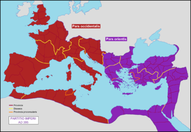 https://upload.wikimedia.org/wikipedia/commons/thumb/4/46/Partition_of_the_Roman_Empire_in_395_AD.png/380px-Partition_of_the_Roman_Empire_in_395_AD.png