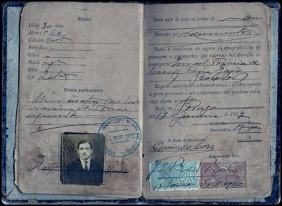 Passaporte português de 1927