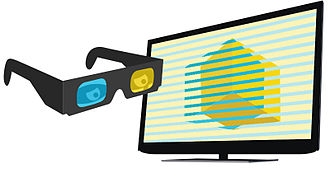 3D television - Functional principle of polarized 3D systems.